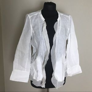 Eileen Fisher Linen/Silk Cardigan